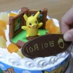 ポケモンのキャラデコケーキ 食べて遊んで大満足