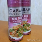 GABAN® スパイスドレッシング和風醤油&バルサミコ酢で豆腐ハンバーグディッシュ
