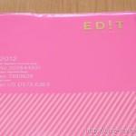 2012年用の手帳 マークスのEDIT(エディット)の使用開始
