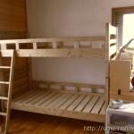 子ども部屋にショートサイズの2段ベッドを設置しました 蜜ろう仕上げで安心