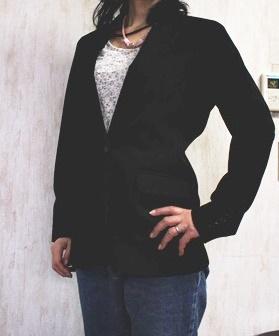 レディス・美型シルエット・スムーズストレッチ・ジャケット